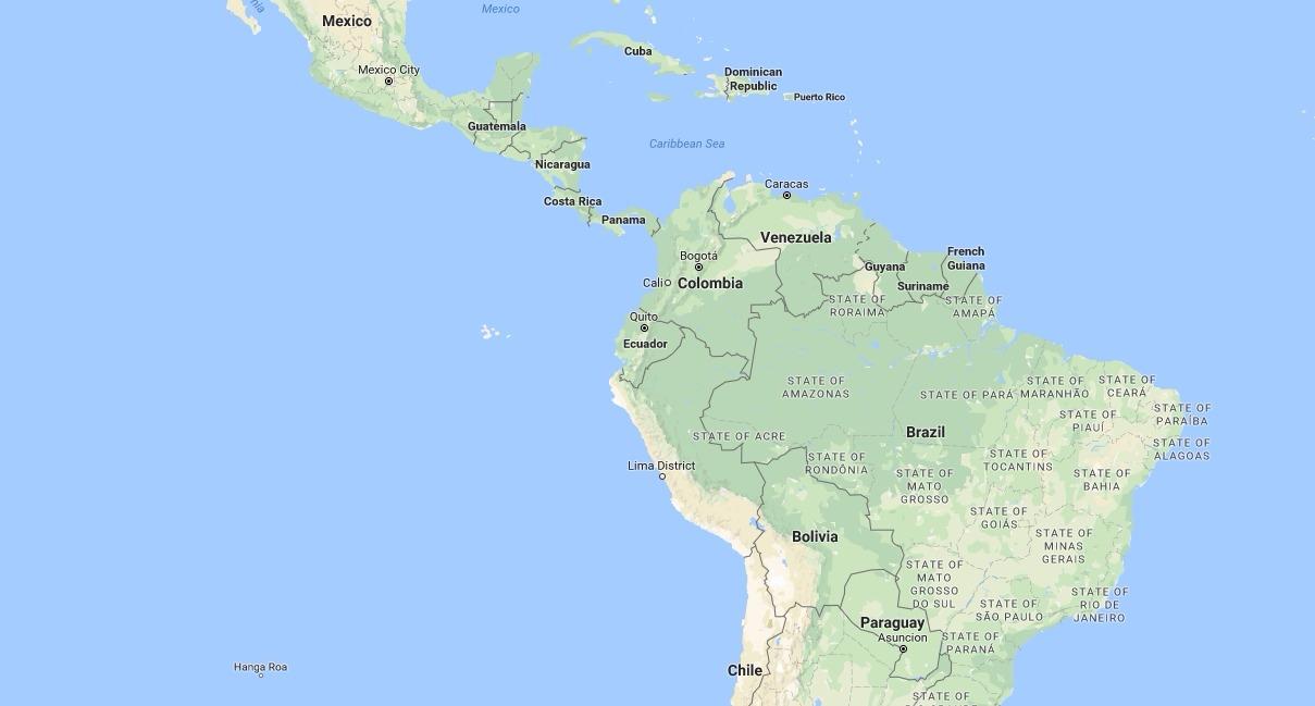 Caribbean Sea South America Map.South America Caribbean Sure Travel