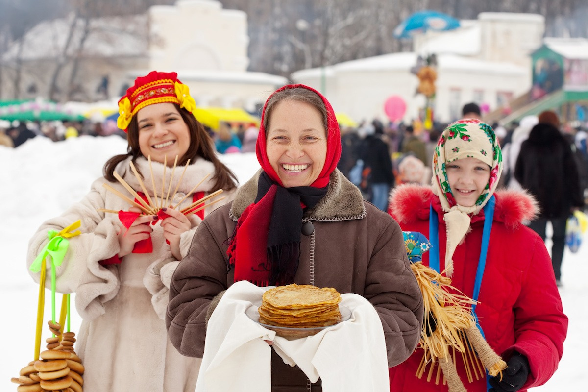 happy russian people russia